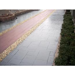 泉州生态旅游业建设彩色压花地坪 生态混凝土压模道路