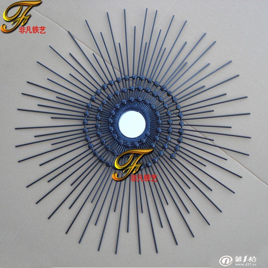 欧式铁艺太阳形壁饰 家居创意墙壁装饰挂件 时尚铁件工艺饰品壁挂