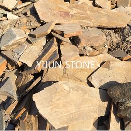 亚博国际版板岩乱形板价格碎拼铺地片石散石