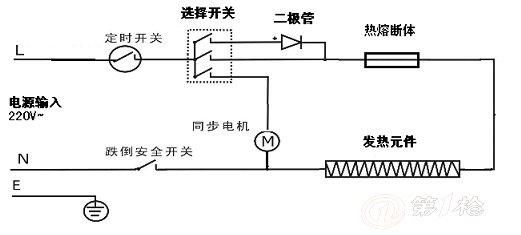 电暖器档位开关接线图
