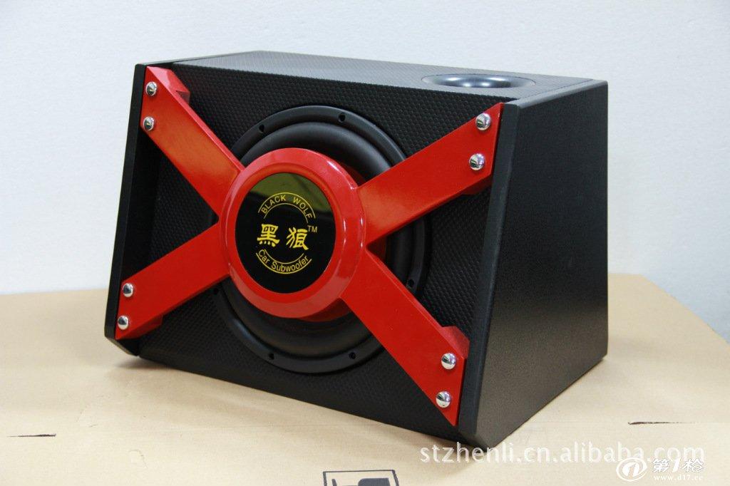 黑狼8098豪华梯形汽车低音炮,有源汽车音响