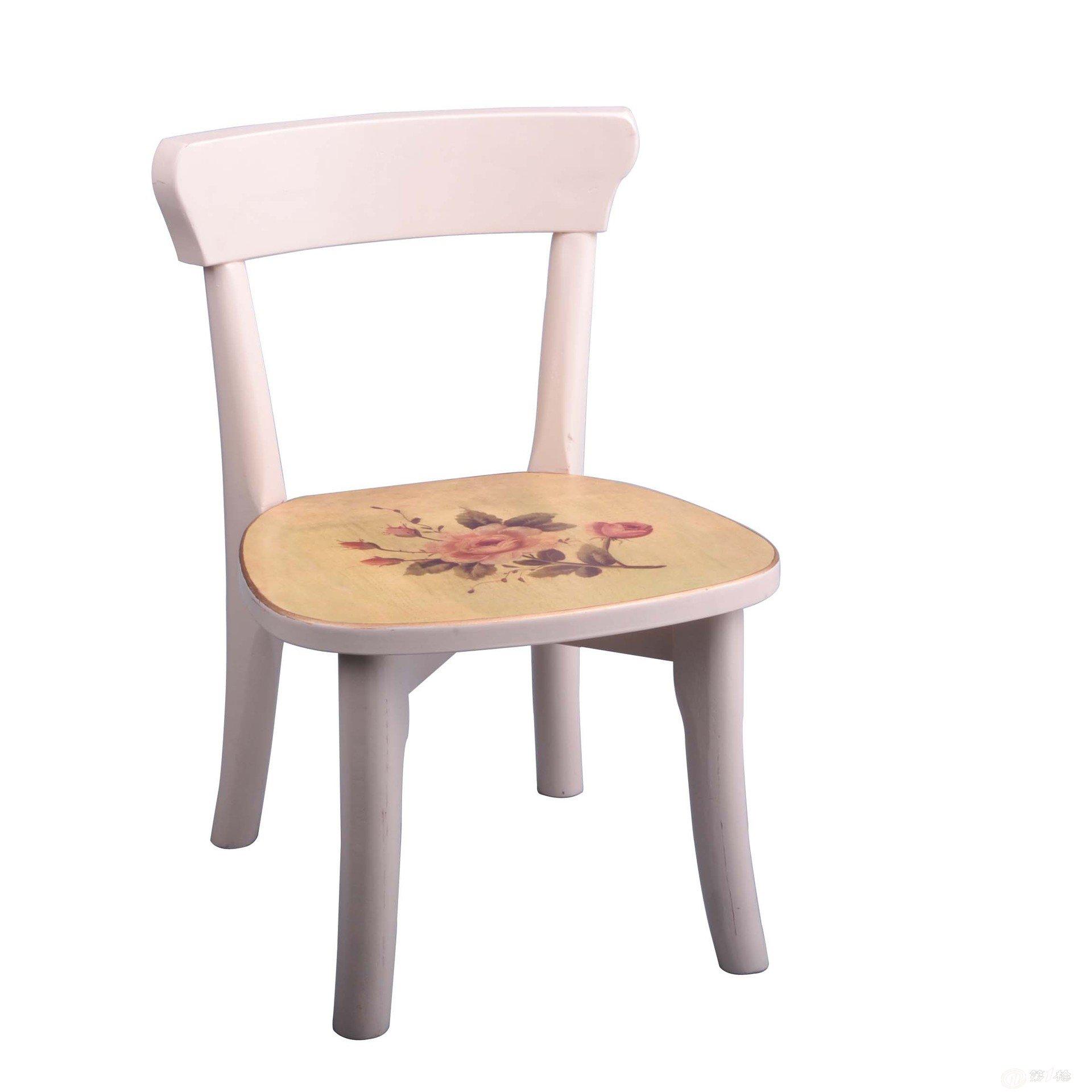 厂商供应批发实木欧式简约贴花小靠背椅子