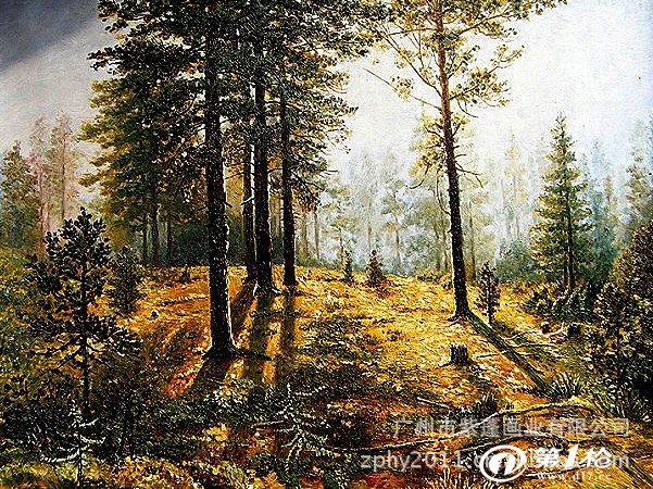 俄罗斯希施金油画风景 纯手绘油画批发