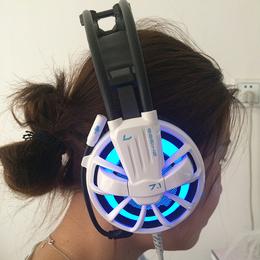 磁动力ZH1300头戴式****游戏炫彩发光网吧耳机
