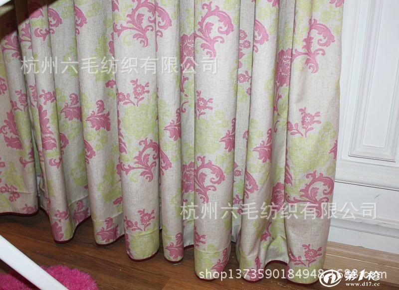 高档时尚,棉麻印花,欧式风格 窗帘布批发 成品窗帘 厂家直销