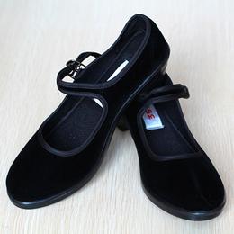 布鞋女鞋搭扣单鞋平底鞋软底休闲鞋