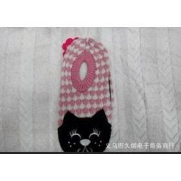 厂家直销 供应大人双色猫头 女式地板袜