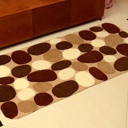 现代简约进门地毯地垫 可裁剪鹅卵石欧式玄关防滑门垫脚垫子