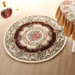 电脑椅地毯 南昌地垫 特价多花型欧式田园地毯 圆形地垫