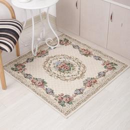欧式米色方形玄关地毯 地垫 防滑防刮痕地板电脑椅垫 桌椅垫