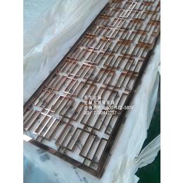 厂家定做8k镜面玫瑰金201不锈钢装饰屏风隔断