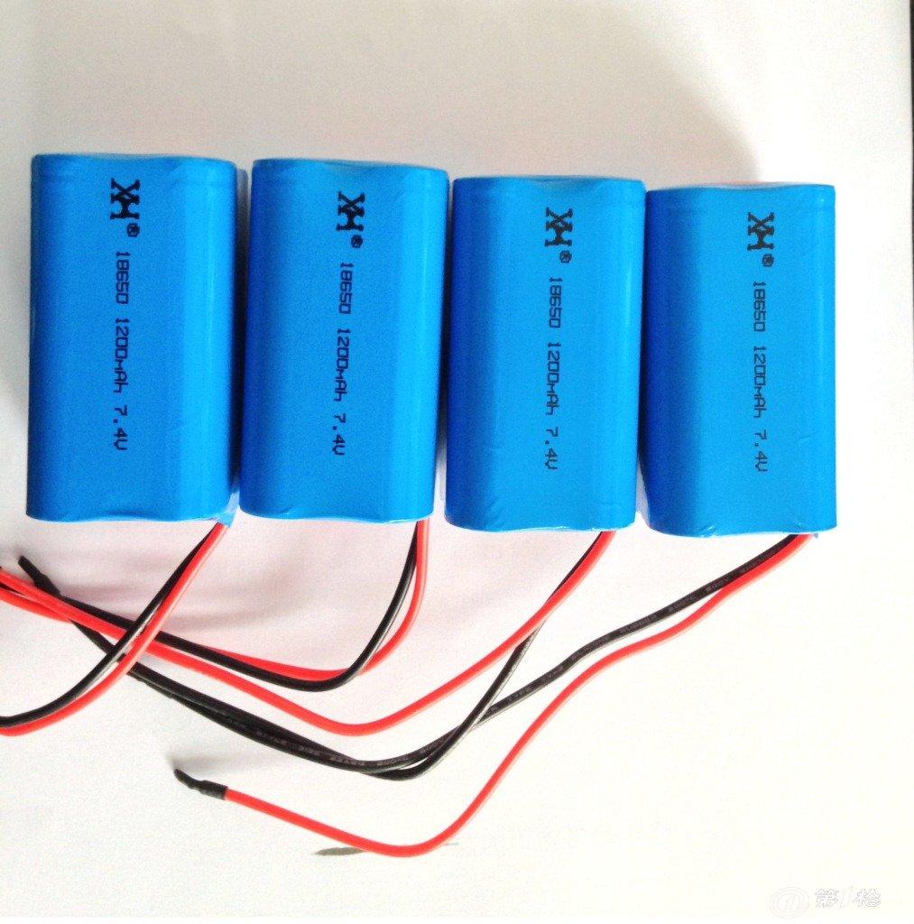 圆柱形18650电池1200mah