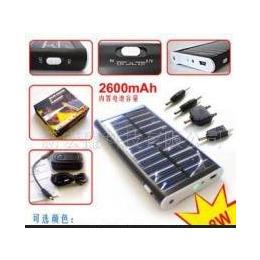 显示电压足量2600毫安<em>太阳能</em><em>手机充电器</em>LED照明/MP3<em>等</em>充电