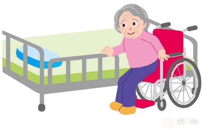 可以通过操作电动护理床的按钮调节不同坐姿和躺姿,这样老人可以在无