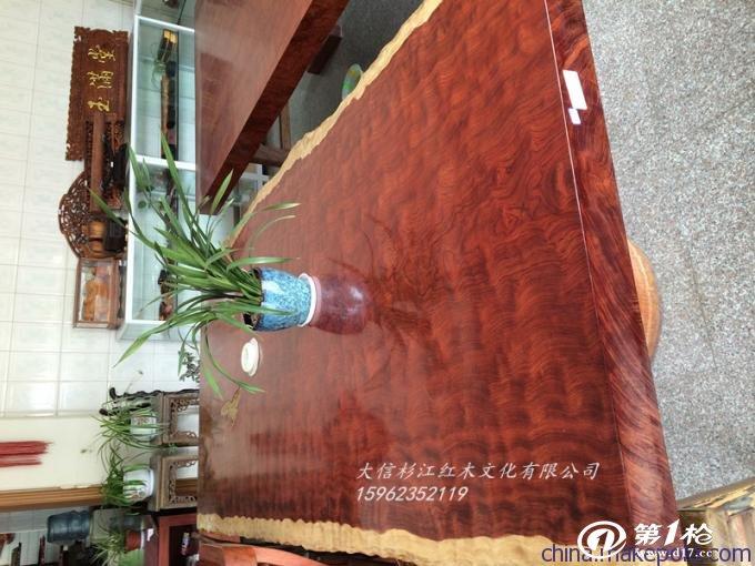 供应杉江红木sjhm0001巴花大板,巴花家具,红木工艺品