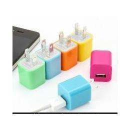 厂家直销 糖果色通用USB充电器<em>插头</em><em>手机充电器</em><em>插头</em>批发支付宝混批