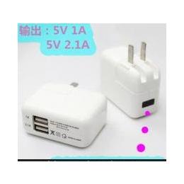 双usb<em>手机充电器</em> 欧规充电器5V2A 充电插头 旅行<em>便携</em>直充电头批发