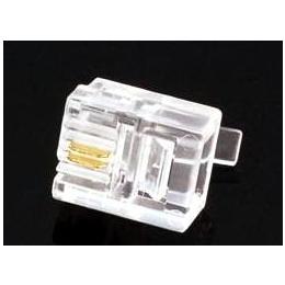 厂家大量供应 RJ11水晶头 6P2C水晶头 二芯电话水晶头 2芯