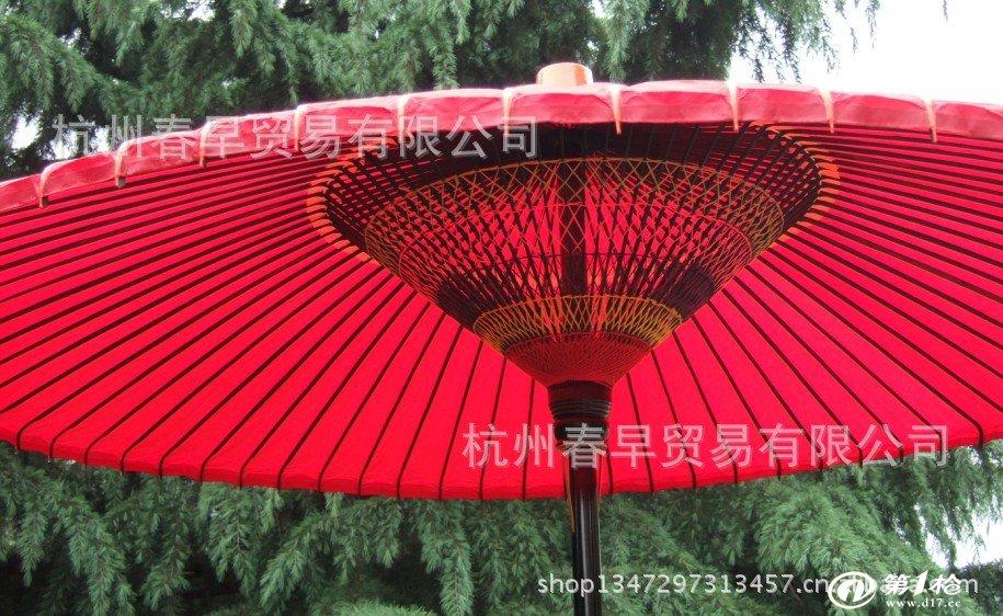 红色油纸伞/舞蹈道具伞/野立伞/茶道伞/庭院伞/1.5米1.8米2.1米