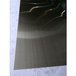 厂家供应江浙沪拉丝青古铜不锈钢板彩钢板真空电镀加工
