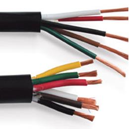 国标电源线 2851四芯铜芯软电缆线RVV3平方电线