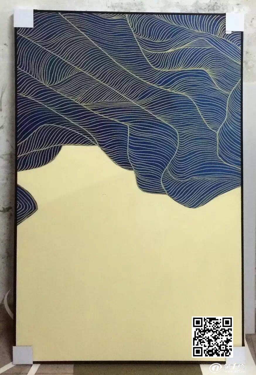 中式抽象手绘画 刀画 中式挂画