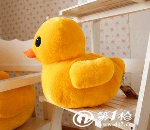 厂家批发热卖儿童礼物香港大黄鸭毛绒玩具娃娃公仔可爱小黄鸭子