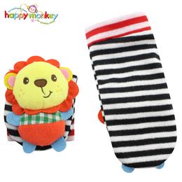 婴儿童宝宝0-3个月动物立体摇铃袜套袜子玩具春秋