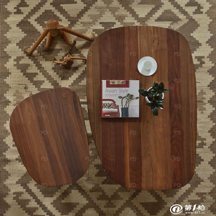 pd实木茶几/美国黑胡桃家具/床头柜茶几/经典北欧风格
