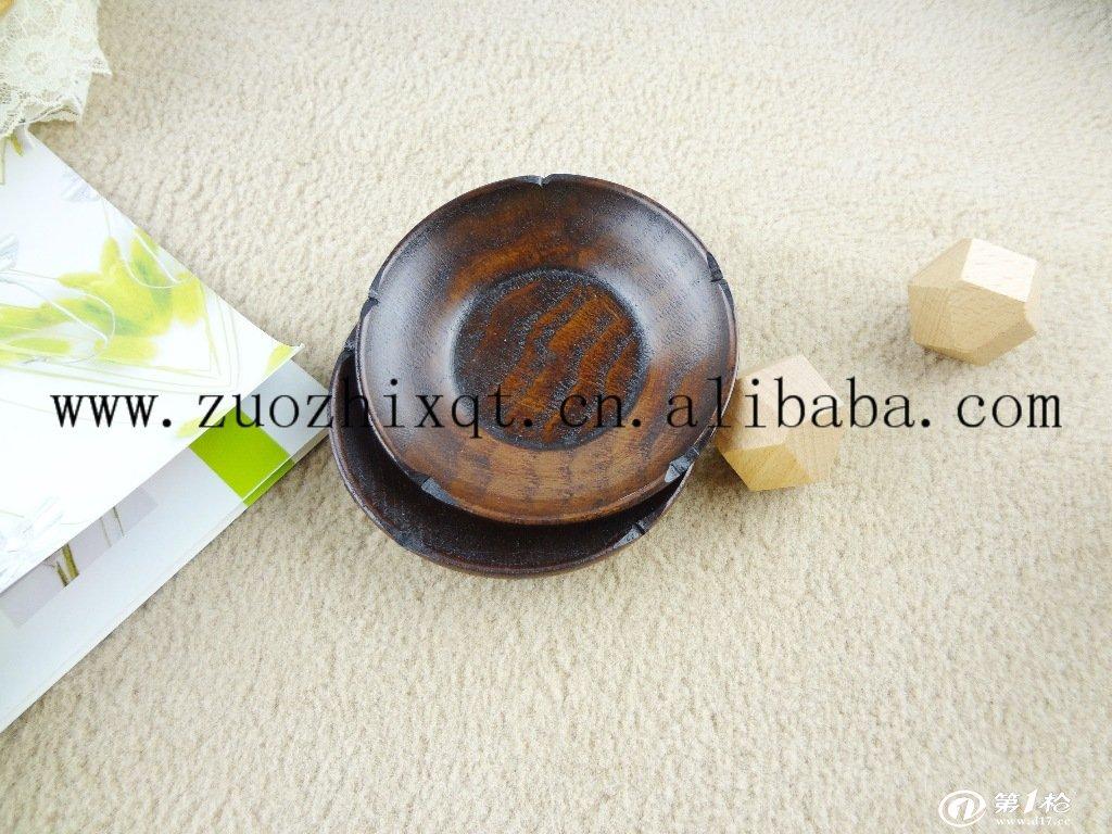 创意木质茶碟/实木杯垫/复古碟子小额混批
