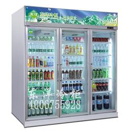 广州冷柜厂供应三门饮料柜 三门展示柜三门冷柜 便利店三门冷柜