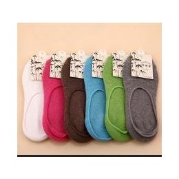 袜子厂家批发 日单全棉隐形袜 糖果色女短袜防脱跟袜 隐形船袜