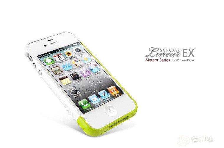 苹果iphone44s手机壳 信号圈 苹果4s sgp 时尚撞色 边框 保护套