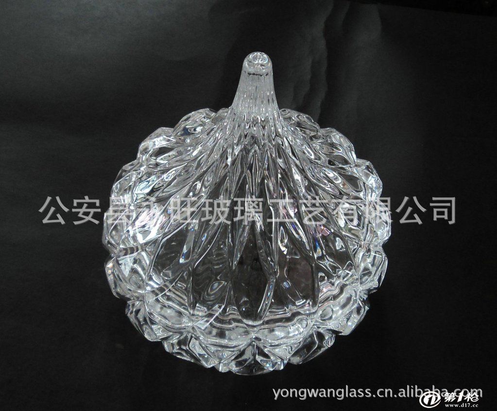 水晶玻璃工艺品,玻璃糖果碗