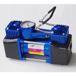曼凯伦车载充气泵5085便携式双缸车用打气泵12V带轮胎压表
