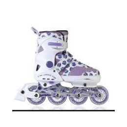 直排轮滑鞋 伸缩可调耐磨儿童溜冰鞋 单排轮旱冰鞋ABEC-7厂家批发