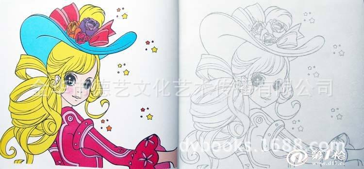 公主换装简笔画 幼儿童宝宝学画画书藉临摹批发 涂色画 涂色画本