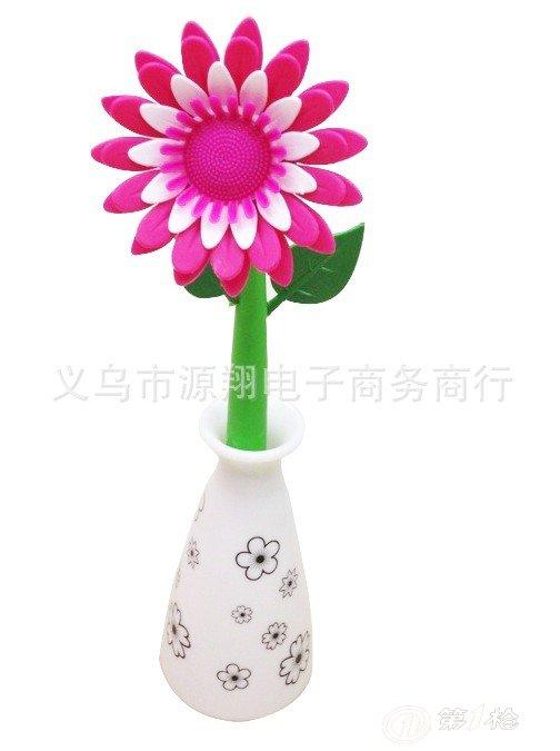 花瓶带花 简笔画