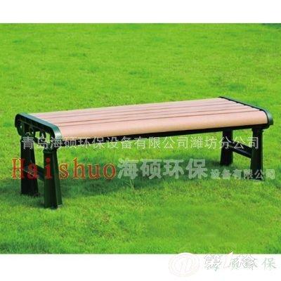 山东户外塑木休闲座椅 防腐木公园椅长凳实木园林椅