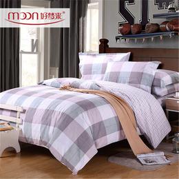好梦来家纺帕米拉全棉简约风印花床上用品四件套