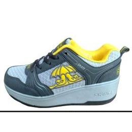 网布暴走鞋男女童滑轮鞋自动款A016玫红零售兼批发一轮鞋