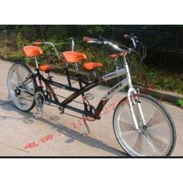 供应艾迪亚亲子三人高配健身多人自行车双人脚踏自行车