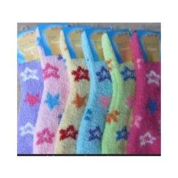 供应毛绒袜,星型半边绒袜子批发,运动袜批发,厂家批发