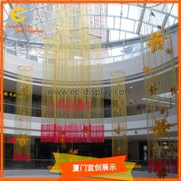 供应商场开业美陈吊挂道具定制与酒店空间装饰道具制作