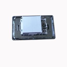 新款厂家低价供应不锈钢电镀仿银墙壁开关双USB插座美标插座