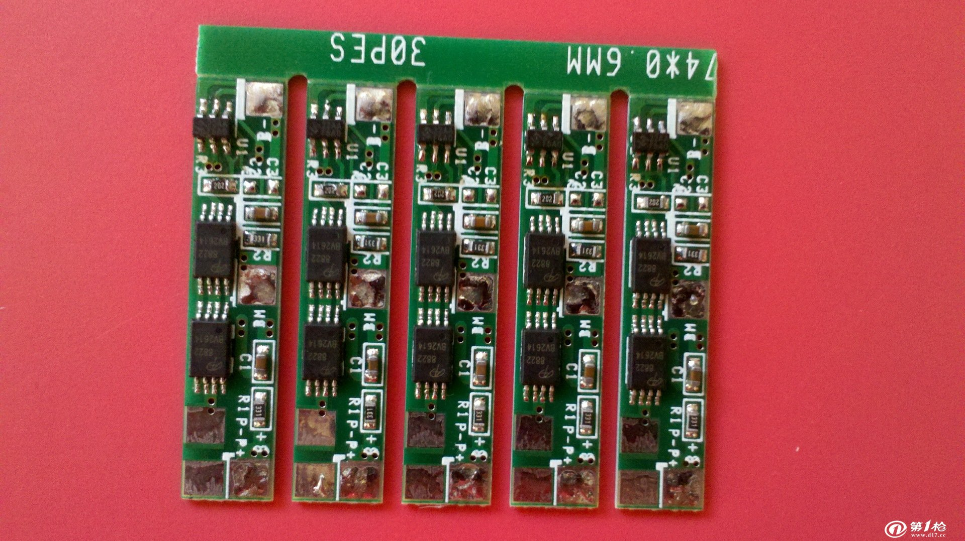 两串7.4v大电流锂电池保护板(2.3-3.0v可恢复,ao8810*