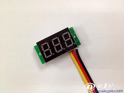 供应三线式dc0-100v 直流数显电压表 数字电压表 反接保护