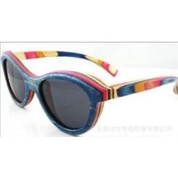 供应划板彩色拼木眼镜合成板框架太阳镜