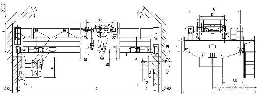 qd型电动双梁桥式起重机