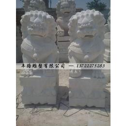 石雕欧式现代狮子门口狮子摆件一对